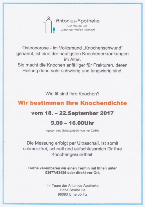 Knochendichtemessung